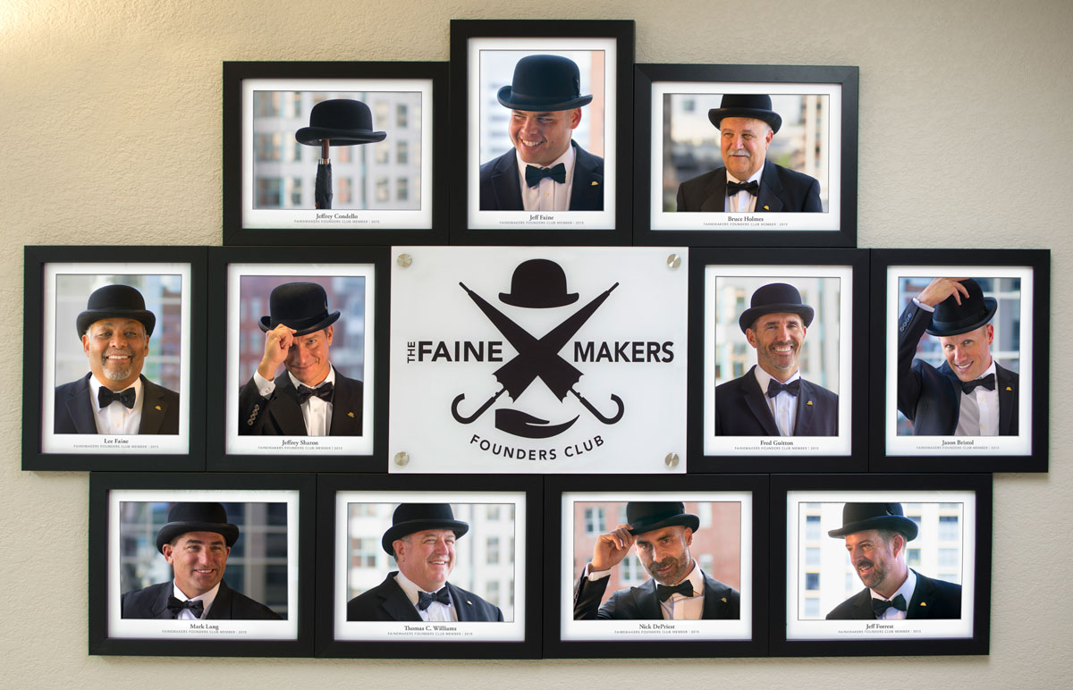 FaineMakers wall display