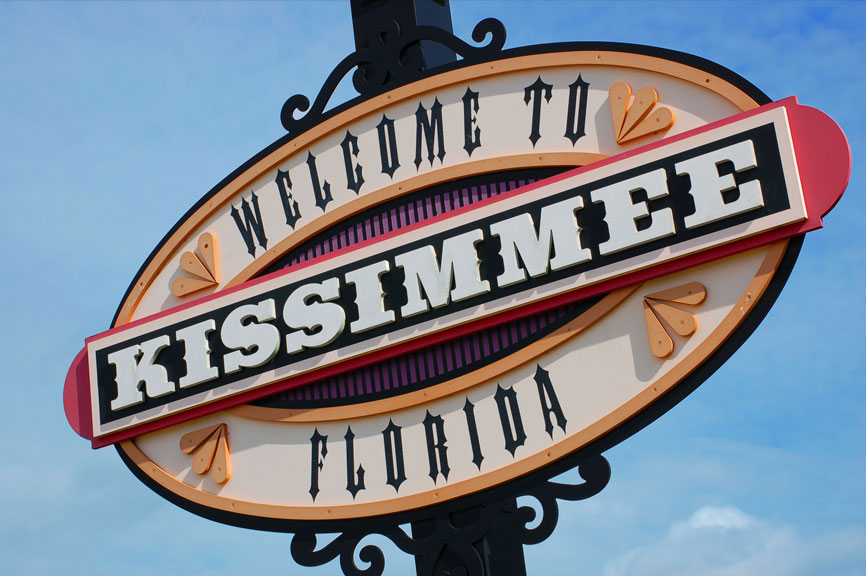 Historic Downtown Kissimmee welcome sign