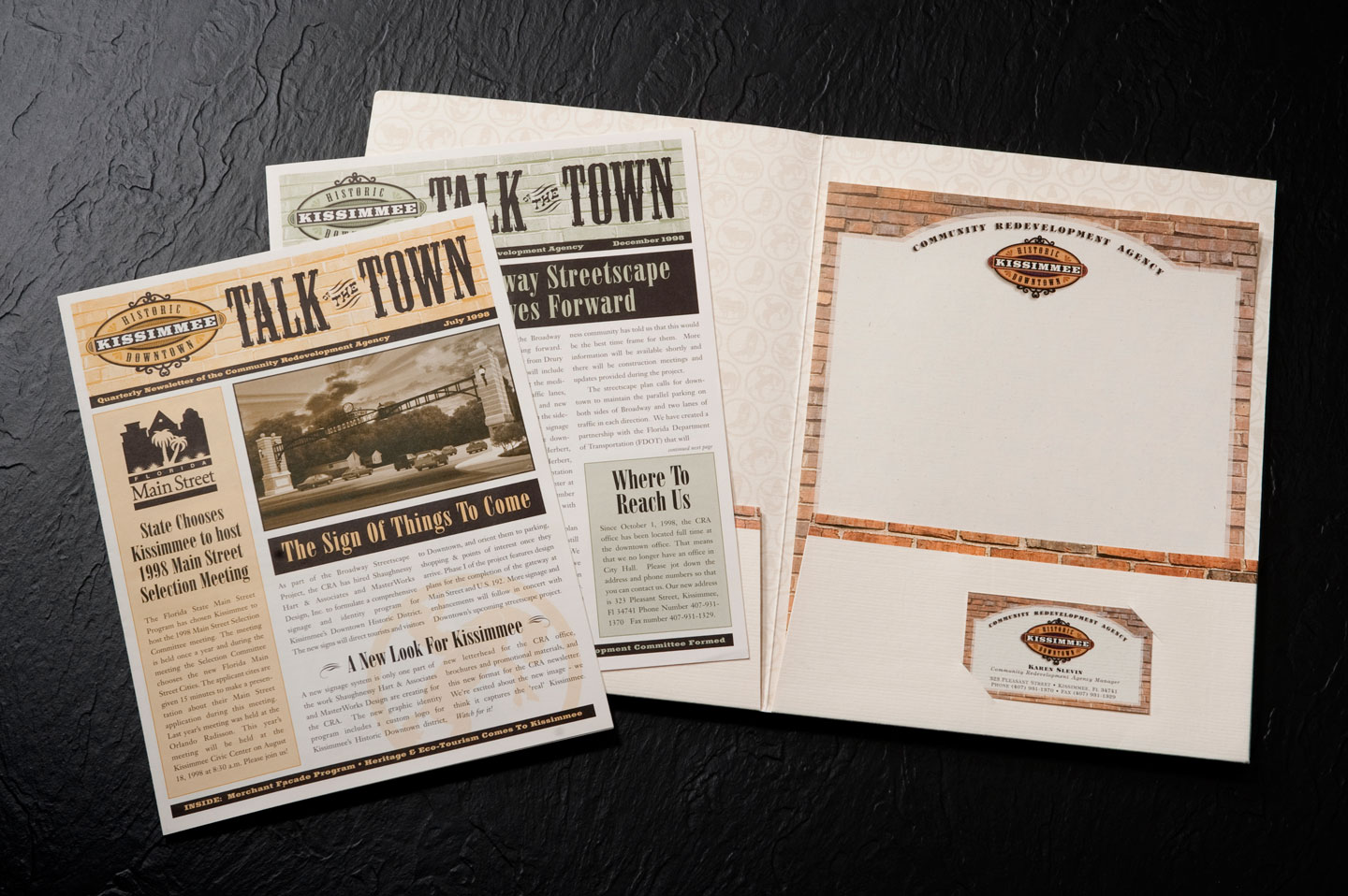 Historic Downtown Kissimmee newsletters and business package