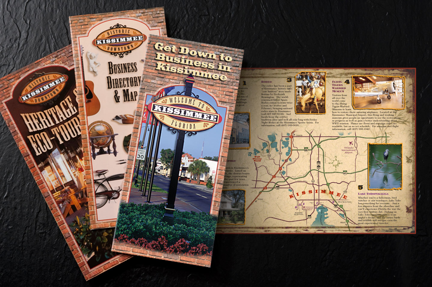 Historic Downtown Kissimmee marketing brochures