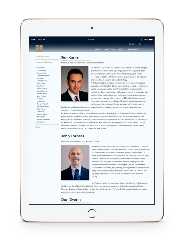 Hertz Investment Group featured leadership page