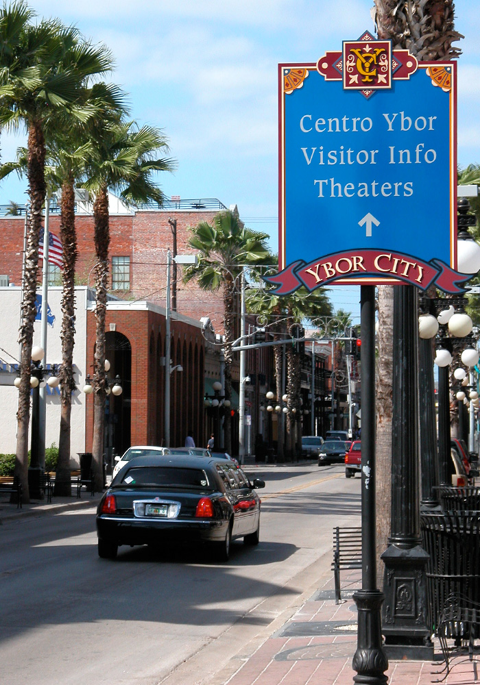 Ybor City directional sign
