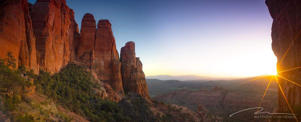 Sunset from Cathedral Rock, Sedona