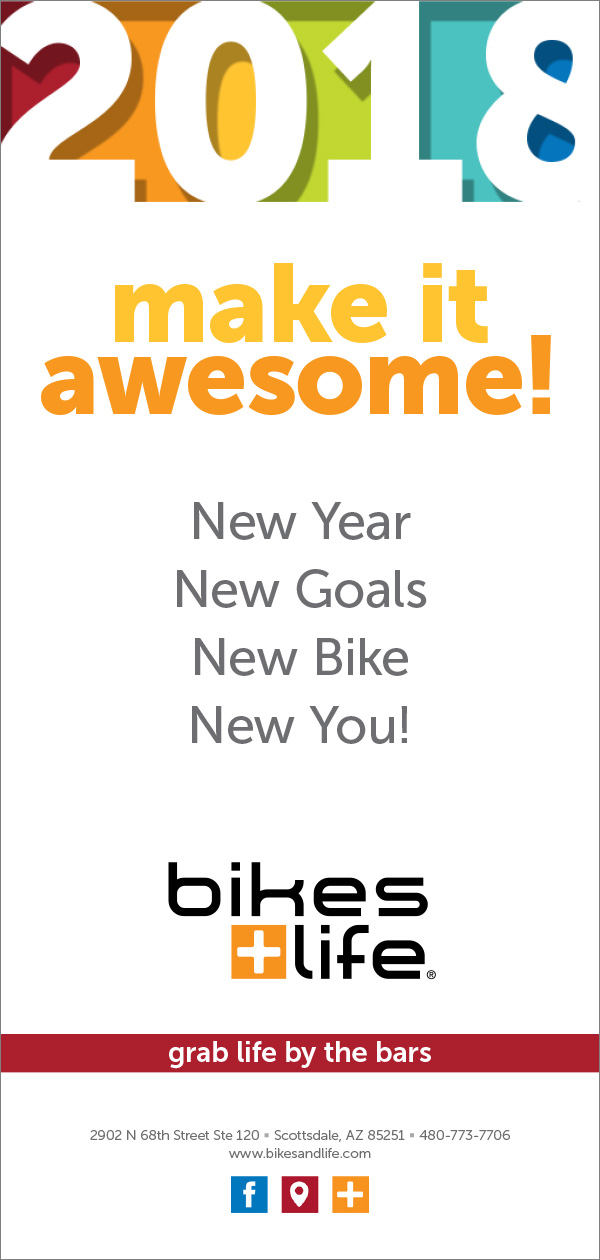 Bikes+Life new year eblast